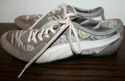 Puma Sport Lifestyle Sneakers, Gray & White, Suede Accents, Size 8.5 M in Bolingbrook, Illinois