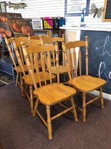 Oak dining chairs in Chicago, Illinois