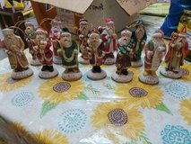 12 ANTIQUE COLLECTIBLE World Santa Figurines! Each in Native Santa Dress & Year on Base. in Bellaire, Texas