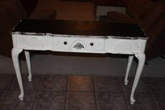 Distressed Queen Anne Sofa Table in Kingwood, Texas