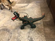Fisher Price Spike the Ultra Green Dinosaur with remote in Baytown, Texas