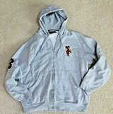 U.S. Polo Assn. Light Heather Gray Zip Front Embroidered Logo Hoodie, Large in Glendale Heights, Illinois