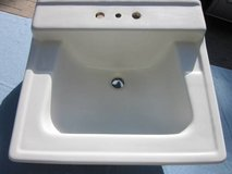 American Standard Sink K57 F121 w/Metal Wall Mount Brackets White 1960 in Glendale Heights, Illinois