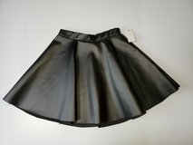 NWT BLACK FAUX LEATHER SKIRT SIZE MEDIUM (can use for halloween 50's costume) in Naperville, Illinois