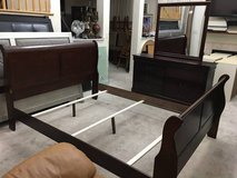 3pc Cherrywood Queen Sleigh Bedroom Set in Joliet, Illinois