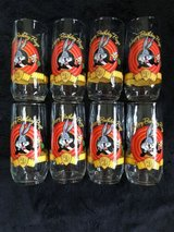 new bugs bunny happy birthday 50th anniversary glasses looney tunes lot of 8 in Chicago, Illinois