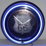Neon Historic Route 66 Chicago - Los Angeles Wall Clock in Chicago, Illinois