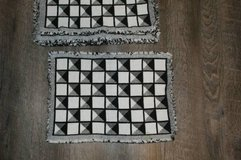 Set of 6 Black & White Cloth Placemats in CyFair, Texas