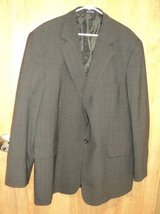 Stafford Wool 2 Button Suite (Gray) w/ Navy Stripe in Fort Campbell, Kentucky