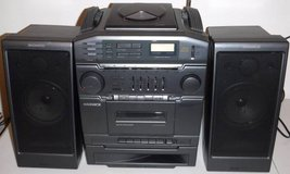 Magnavox Turbo Bass BoomBox Stereo CD Cassette Player in Westmont, Illinois