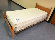 Twin Serta Mattress Box Spring and Bed Frame in Chicago, Illinois
