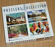 NEW Puzzlers Collection of 4 Deluxe 1000 Piece Puzzls Castle Nat'l Park Balloon Fiesta Savannah Rd in Joliet, Illinois