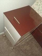Vintage metal filing cabinet with locked storage in Phoenix, Arizona