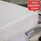Fairyland  3 Inch Memory Foam Mattress Topper King Size - New! in Joliet, Illinois