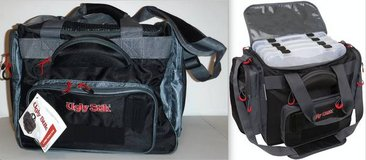 New! Torg Shakespeare Ugly Stik LARGE Fishing Tackle Bag +4 Util Boxes in Joliet, Illinois