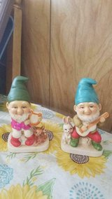 Vintage 70's HOMCO Ceramic Gnomes / Elves Playing Instruments! #5201 Set of 2 in Kingwood, Texas