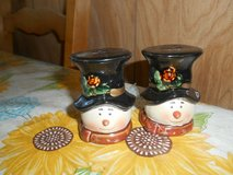 "3"" Ceramic Snowman Salt and Pepper Shaker Set! 2pc with Stoppers in Bellaire, Texas"