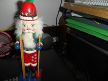 1999 Nutcracker Village Old World Santa Skier w/ Skis and Poles! in Bellaire, Texas