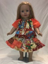 "Handmade fall harvest twirl skirt 3 piece set fits American Girl & 18"" Dolls in Yucca Valley, California"