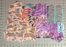 100 fairies, ponies & more mix lot of fabric cut outs, appliques, quilting, scrapbooking in Yucca Valley, California