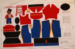 """v.i.p. bear & toy soldier outfit for 24"""" vip bear fabric craft panel in Yucca Valley, California"""