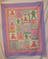 v.i.p. cranston calico teddy bears quilt top fabric craft panel in Yucca Valley, California