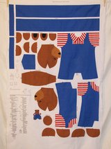 1996 christies corner critter bags back pack bear fabric craft panel in 29 Palms, California