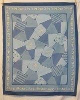 abc patchwork jean look quilt top fabric craft panel in 29 Palms, California