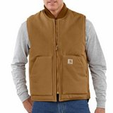 V01 Carhartt Artic Quilt Lined Duck Vest Jacket Brown 3XLT in Naperville, Illinois