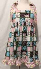 handmade beautiful pink owls sleeveless dress size 5 in Yucca Valley, California