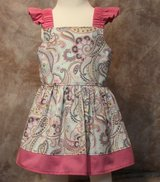 pink paisley handmade sun dress with bloomers size 6m in Yucca Valley, California