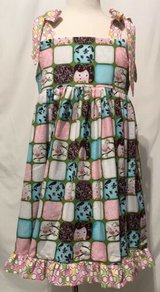 beautiful pink owls handmade sleeveless dress size 6 in Yucca Valley, California