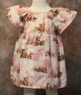 beautiful pink teddy bears handmade dress with bloomers size 6m in Yucca Valley, California