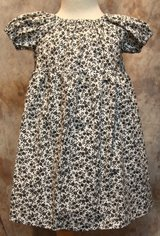 black & white flowered handmade dress with bloomers size 18m in Yucca Valley, California