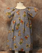 playful teddy bears handmade dress with bloomers size 12m in Yucca Valley, California