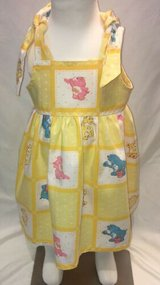 yellow vintage care bears handmade sun dress with bloomers size 6m in Yucca Valley, California
