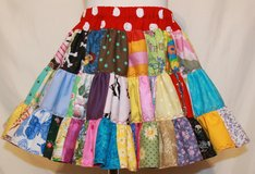 handmade fun crazy patchwork twirl skirt size 2t in Yucca Valley, California
