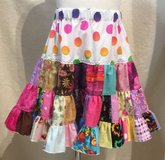 handmade crazy fun patchwork twirl skirt size 6 in Yucca Valley, California