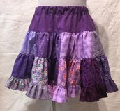 handmade purple patchwork twirl skirt size 4t in Yucca Valley, California