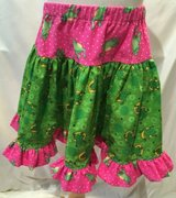 handmade frog lovers pink & green twirl skirt size 4t in Yucca Valley, California
