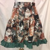 handmade cat lovers with green twirl skirt size 6 in Yucca Valley, California