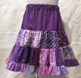 handmade purple patchwork twirl skirt girls size 6 in Yucca Valley, California
