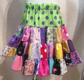 handmade crazy fun patchwork twirl skirt size 5 in Yucca Valley, California