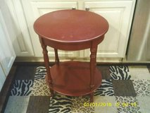 OVAL ALL WOOD TABLE WITH A DRAWER in Orland Park, Illinois