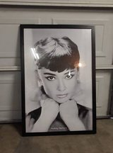 "Large Audrey Hepburn Framed Print 26"" x 38"" in CyFair, Texas"