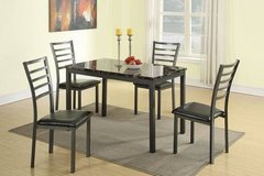 New! 5-Pcs Marble Finish Dining Set FREE DELIVERY in Miramar, California