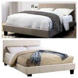 New! Sims Linen Gray FULL or QUEEN Bed Frame DELIVERY in Miramar, California