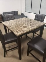 New Marble Finish Counter Height Table + 4 Chairs FREE DELIVERY in Miramar, California