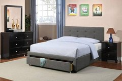 New! FULL or QUEEN Charcoal Bed Frame + Storage FREE DELIVERY in Miramar, California