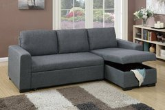 New! Blue Grey Sectional w Pull Out Sleeper FREE DELIVERY in Miramar, California